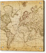 Map Of The World 1800 Acrylic Print