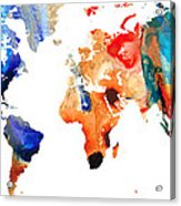 Map Of The World 8 -colorful Abstract Art Acrylic Print