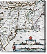 Map Of Virginia - 1665 Acrylic Print
