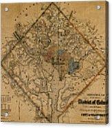Map Of Washington 1862 Acrylic Print
