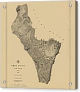 Map Of West Point 1883 Acrylic Print