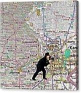 Map Overland Park Kansas Acrylic Print
