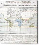 Map Sugar Trade Acrylic Print