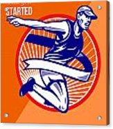 Marathon Finish What You Started Retro Poster Acrylic Print