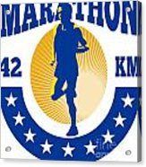 Marathon Runner Athlete Running Acrylic Print by Aloysius Patrimonio