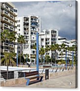 Marbella Apartment Buildings Acrylic Print