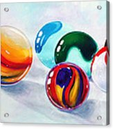 Marbilicious Acrylic Print