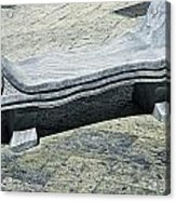 Abstract Marble Bench Acrylic Print