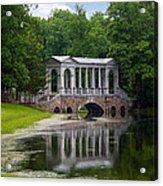 Marble Bridge In The Park Tsarskoye Selo Acrylic Print