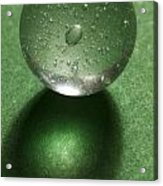 Marble Clear On Green 1 Acrylic Print