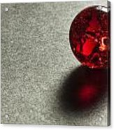 Marble Red Crackle 1 Acrylic Print