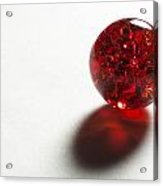 Marble Red Crackle 2 Acrylic Print