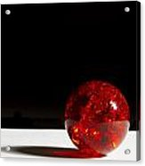 Marble Red Crackle 4 B Acrylic Print
