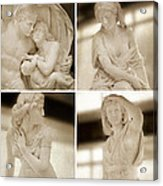 Marble Sculpture Acrylic Print