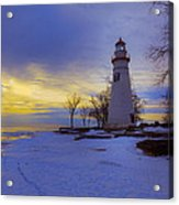 Marblehead Lighthouse Winter Sunrise Acrylic Print