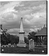 Marblehead Old Burial Hill Cemetery Acrylic Print