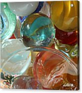 Marbles In A Jar Acrylic Print by Mary Bedy