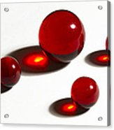 Marbles Red 2 Acrylic Print