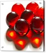 Marbles Red 3 C Acrylic Print
