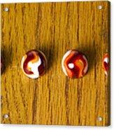 Marbles Red Orange Swirl 1 Acrylic Print