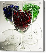 Marbles Wine Glasses 2 Acrylic Print