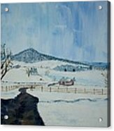 March Snow on Mole Hill - SOLD Acrylic Print