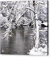 March Snow On The River Acrylic Print