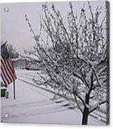 March Snowfall Acrylic Print