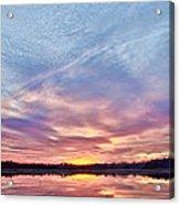 March Sunset At Whitesbog Acrylic Print