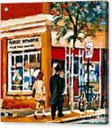 Marche Depanneur Storefront Paintings Authentic Montreal Art Prints Originals Commissions C Spandau Acrylic Print