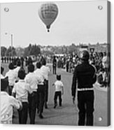 Marchers Number 2 100th Anniversary Parade Nogales Arizona 1980 Black And White  Acrylic Print