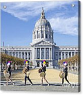 Marching By Acrylic Print