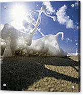 Marching Foam Acrylic Print