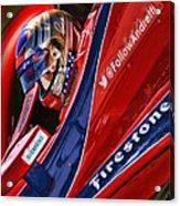 Marco Andretti Focused Acrylic Print