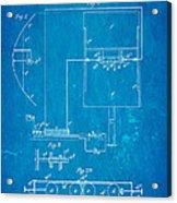 Marconi Radio Patent Art 1897 Blueprint Acrylic Print