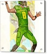 Marcus Mariota Oregon Ducks Rose Bowl Acrylic Print