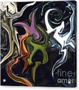 Mardi Gras Abstract Acrylic Print