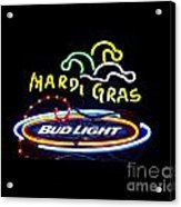 Mardi Gras And Bud Light Acrylic Print