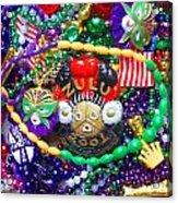 Mardi Gras Beads 1 Acrylic Print