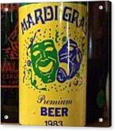 Mardi Gras Beer 1983 Acrylic Print