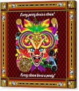 Mardi Gras Clown Style 1 Vector Sample Acrylic Print