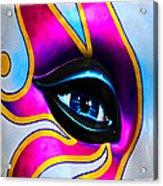 Mardi Gras Eye Acrylic Print