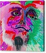 Mardi Gras Face Acrylic Print