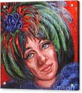Mardi Gras Girl Acrylic Print