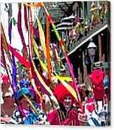 Mardi Gras Marching Parade Acrylic Print