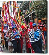 Mardi Gras In New Orleans Acrylic Print