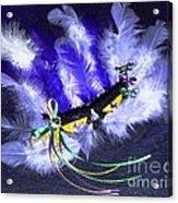 Mardi Gras On Purple Acrylic Print