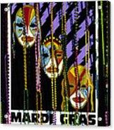 Mardi Gras Poster New Orleans Acrylic Print