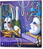 Mardi Gras Acrylic Print by Rich Kuhn