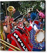 Mardi Gras Storyville Marching Group Acrylic Print